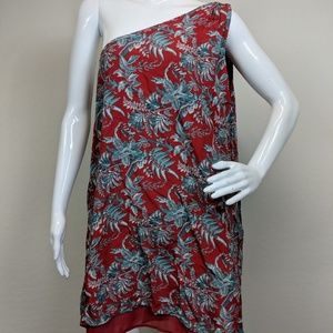 Ann Taylor LOFT Womens Floral One Shoulder Dress